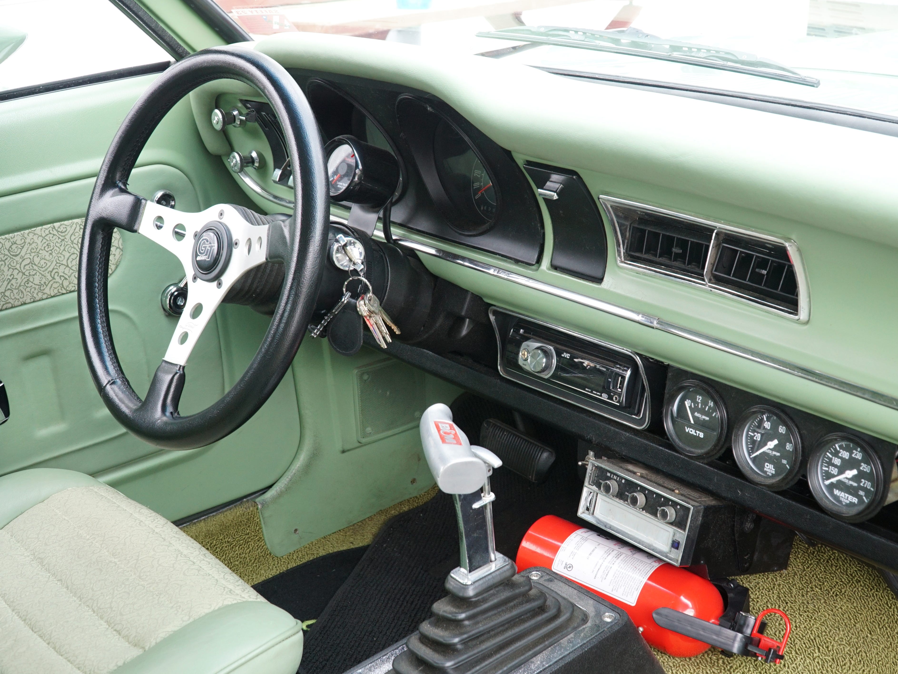 The interior of Livonia resident Mick Stolarczyk's '71 Mercury Comet. He'll be showing the car that he bought in 2007 at this year's Autorama Show in Detroit which begins on Marchn 1 at Cobo Hall. Stolarczyk owned a Comet in the early 70s before he went into the Air Force - and has spent about four years restoring this current model - which he'll drive to car shows - not trailer.