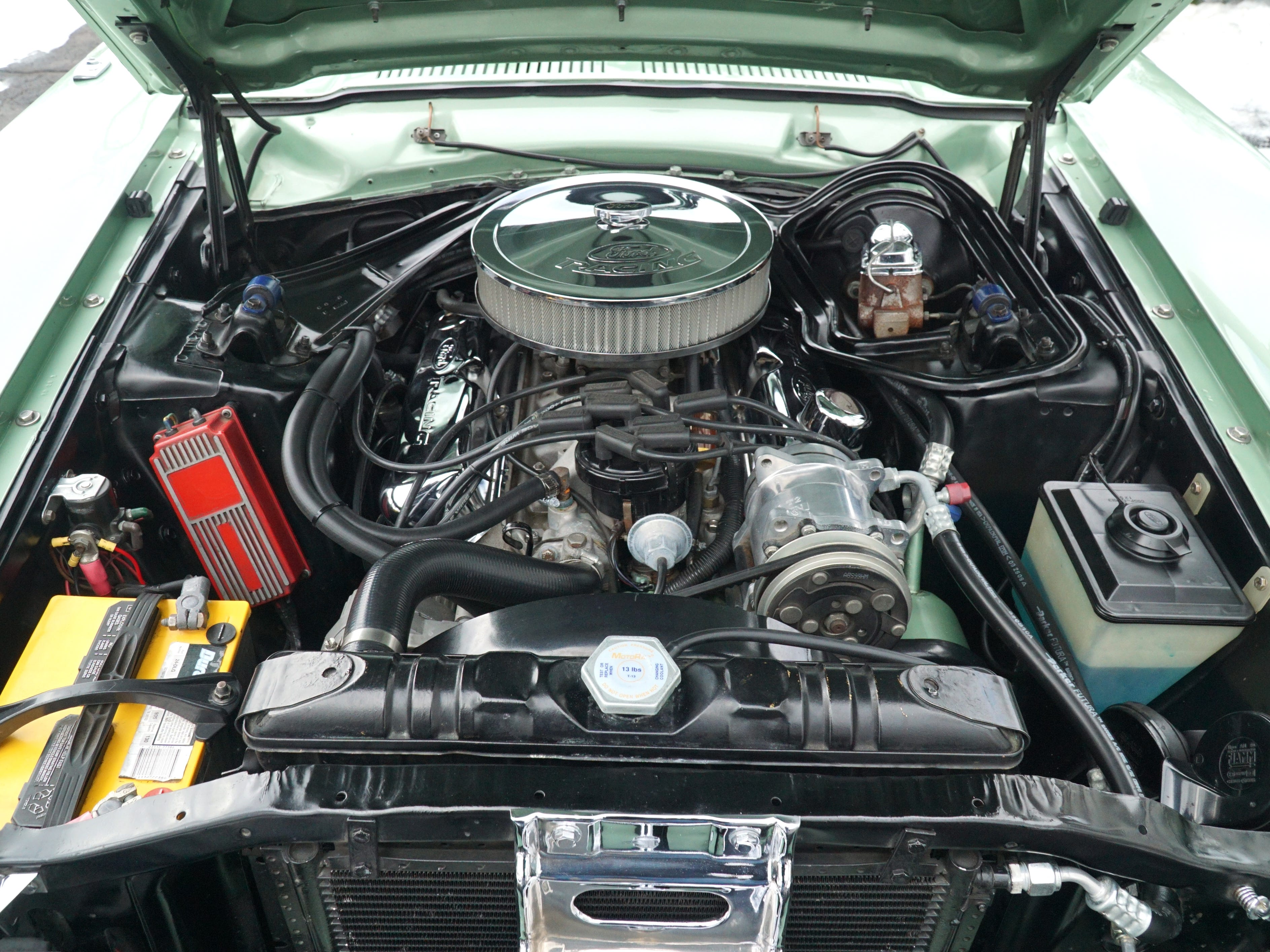 An under-the-hood look at the '71 Comet.