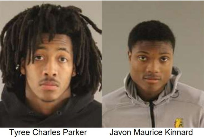Tyree Charles Parker and Javon Maurice Kinnard are accused of stealing items from area gym locker rooms.