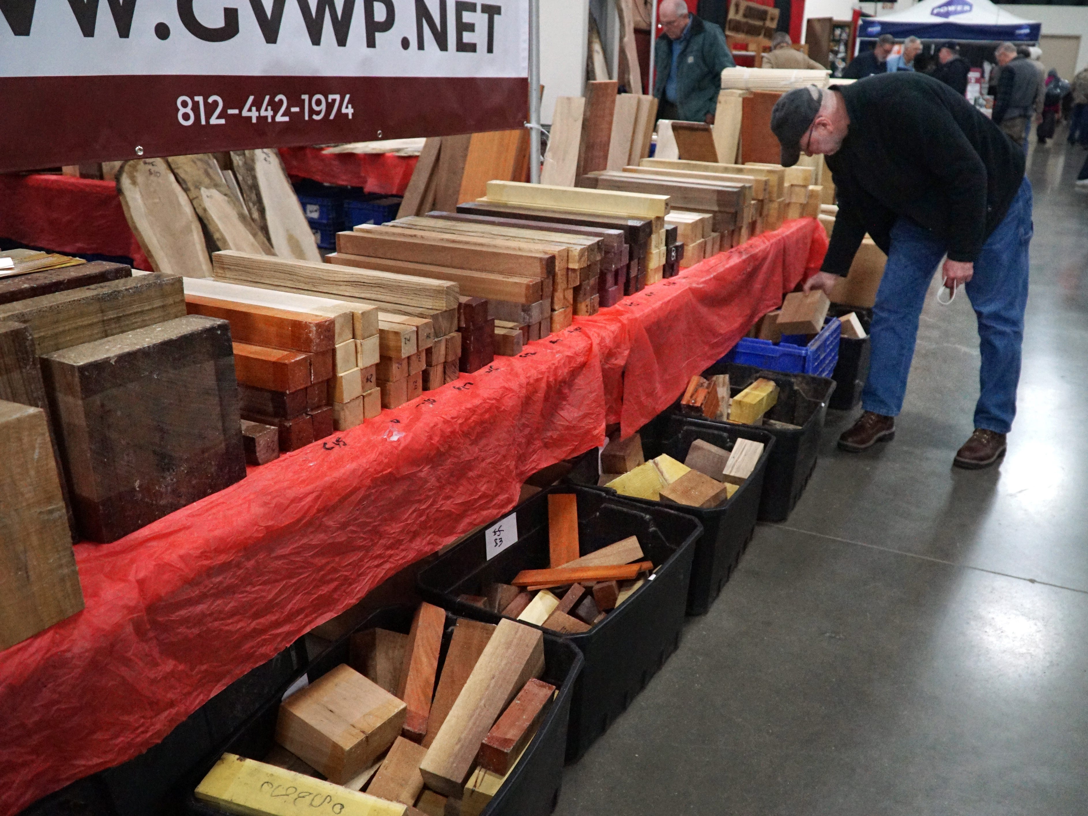 The woodworking show featured vendors selling everything from power tools, to hardware and finishing products to wood blanks for the wood workers in attendance.