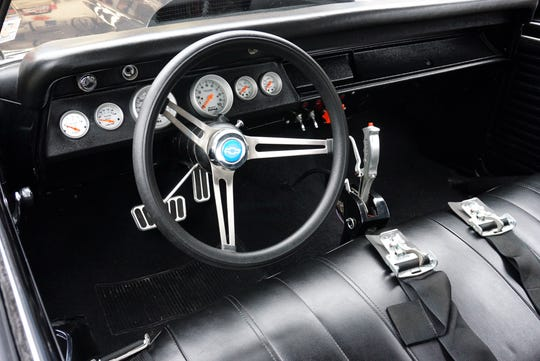 Carey has customized his Chevelle's dashboard and shifter system.
