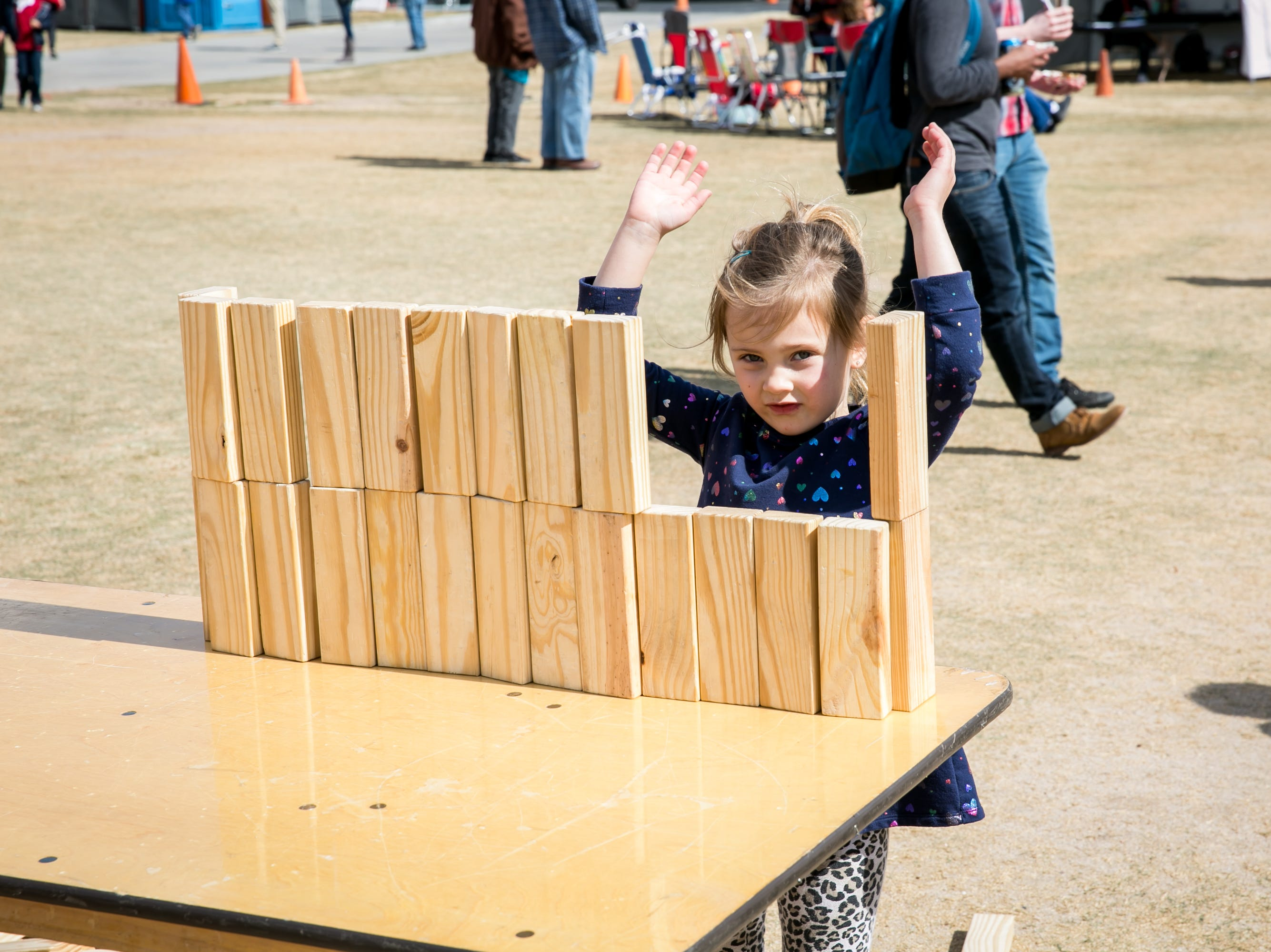 Parker, age 4, had fun during the Street Eats Food Truck Festival at Salt River Fields near Scottsdale on Feb. 17, 2019.