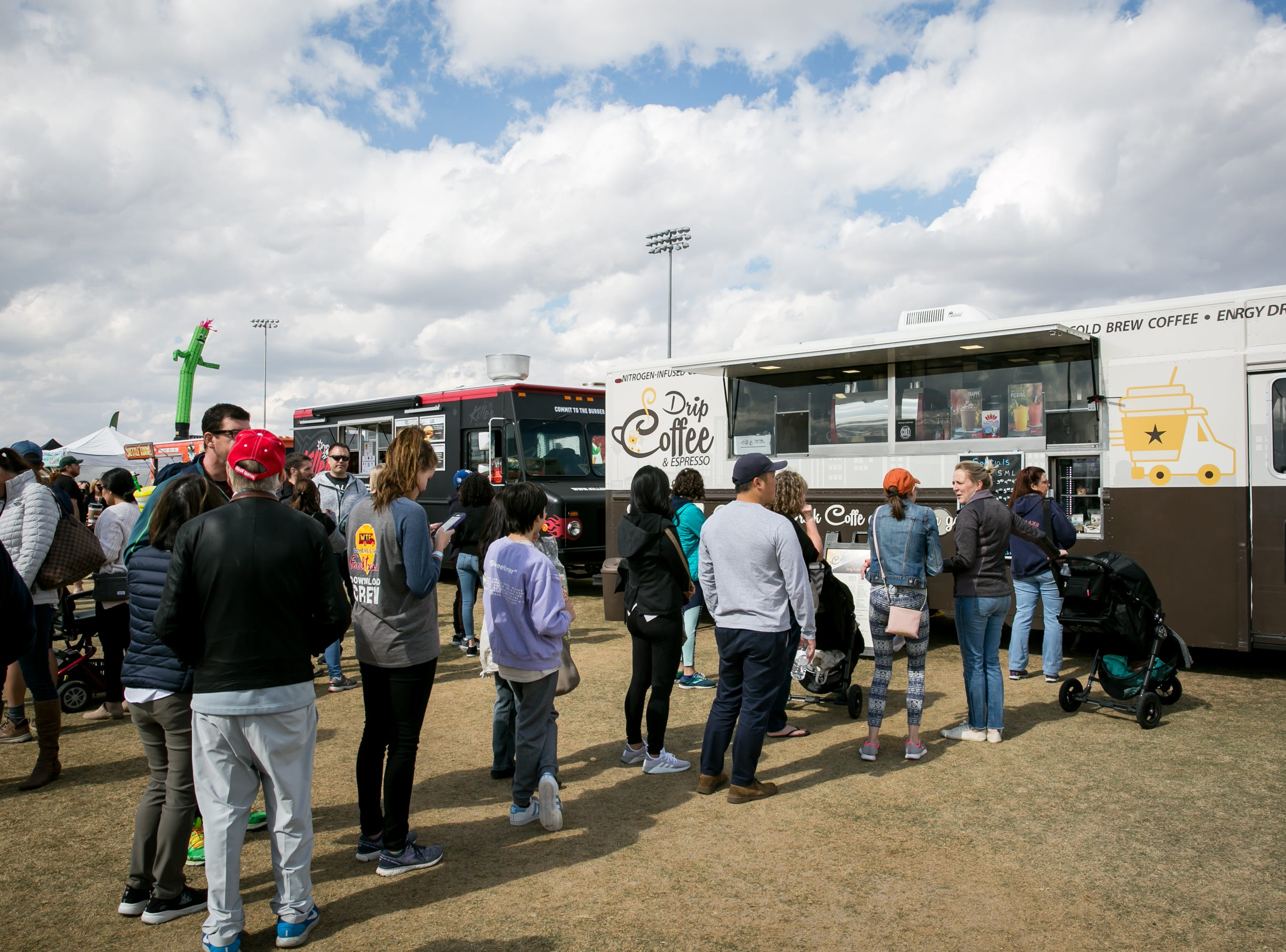Chilly weather made coffee perfect during the Street Eats Food Truck Festival at Salt River Fields near Scottsdale on Feb. 17, 2019.