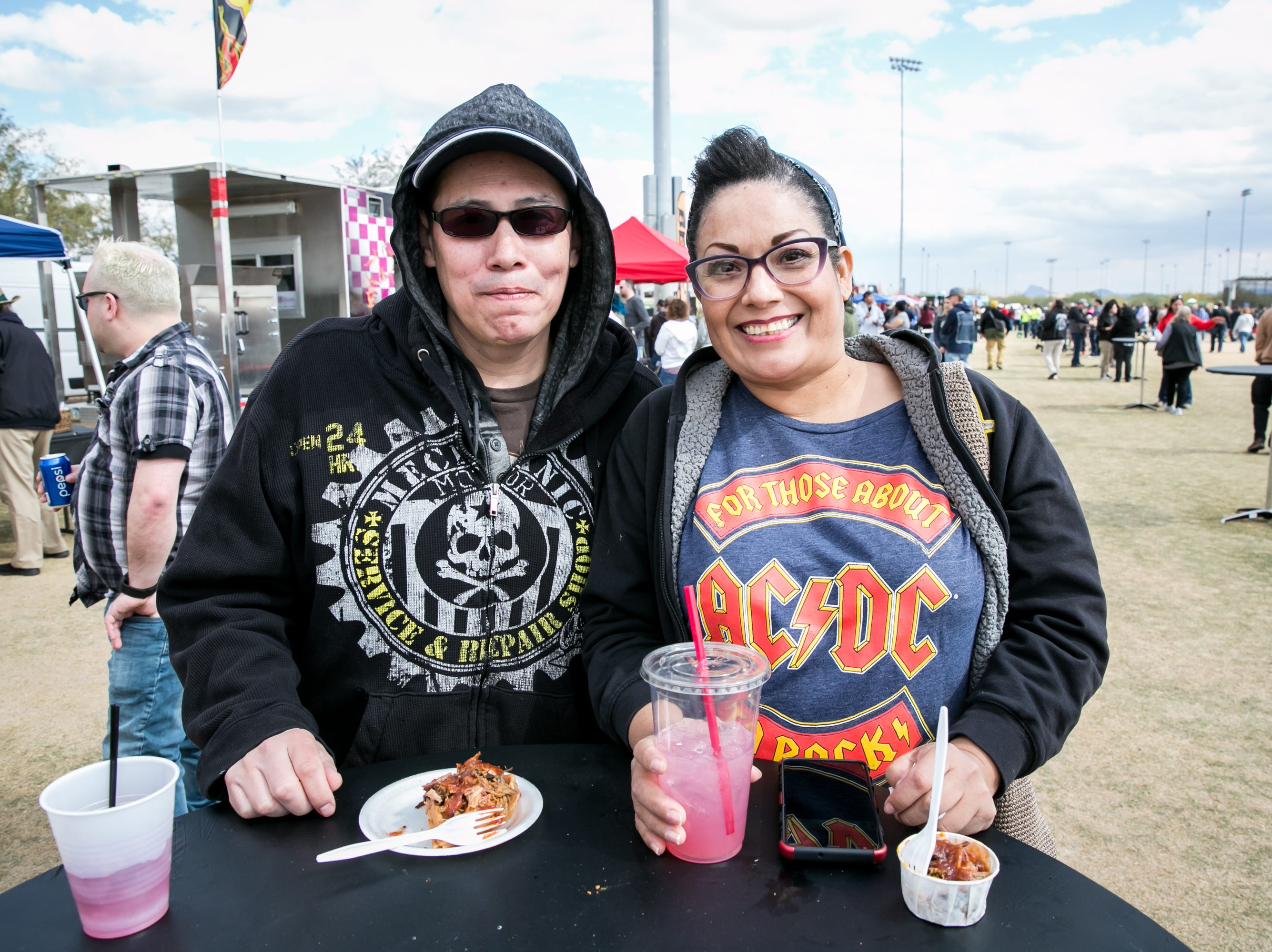 Great food was saluted during the Street Eats Food Truck Festival at Salt River Fields near Scottsdale on Feb. 17, 2019.