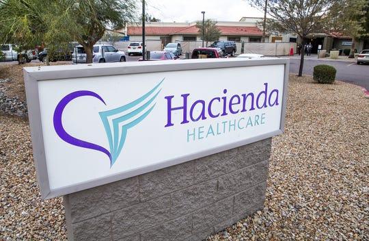 Exterior of Hacienda HealthCare facility in Phoenix on Feb. 18, 2019.