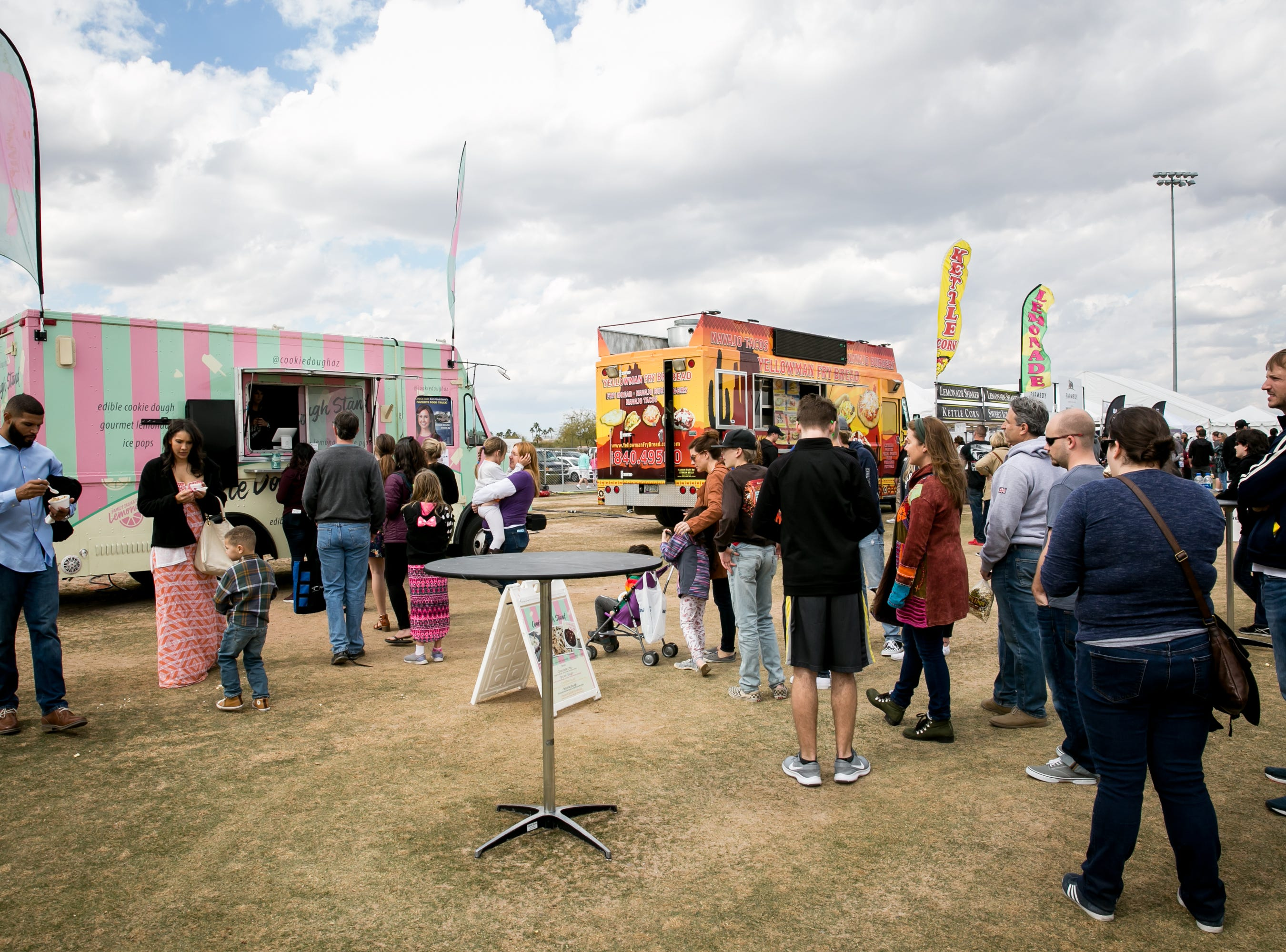 There were dozens of food trucks to choose from during the Street Eats Food Truck Festival at Salt River Fields near Scottsdale on Feb. 17, 2019.