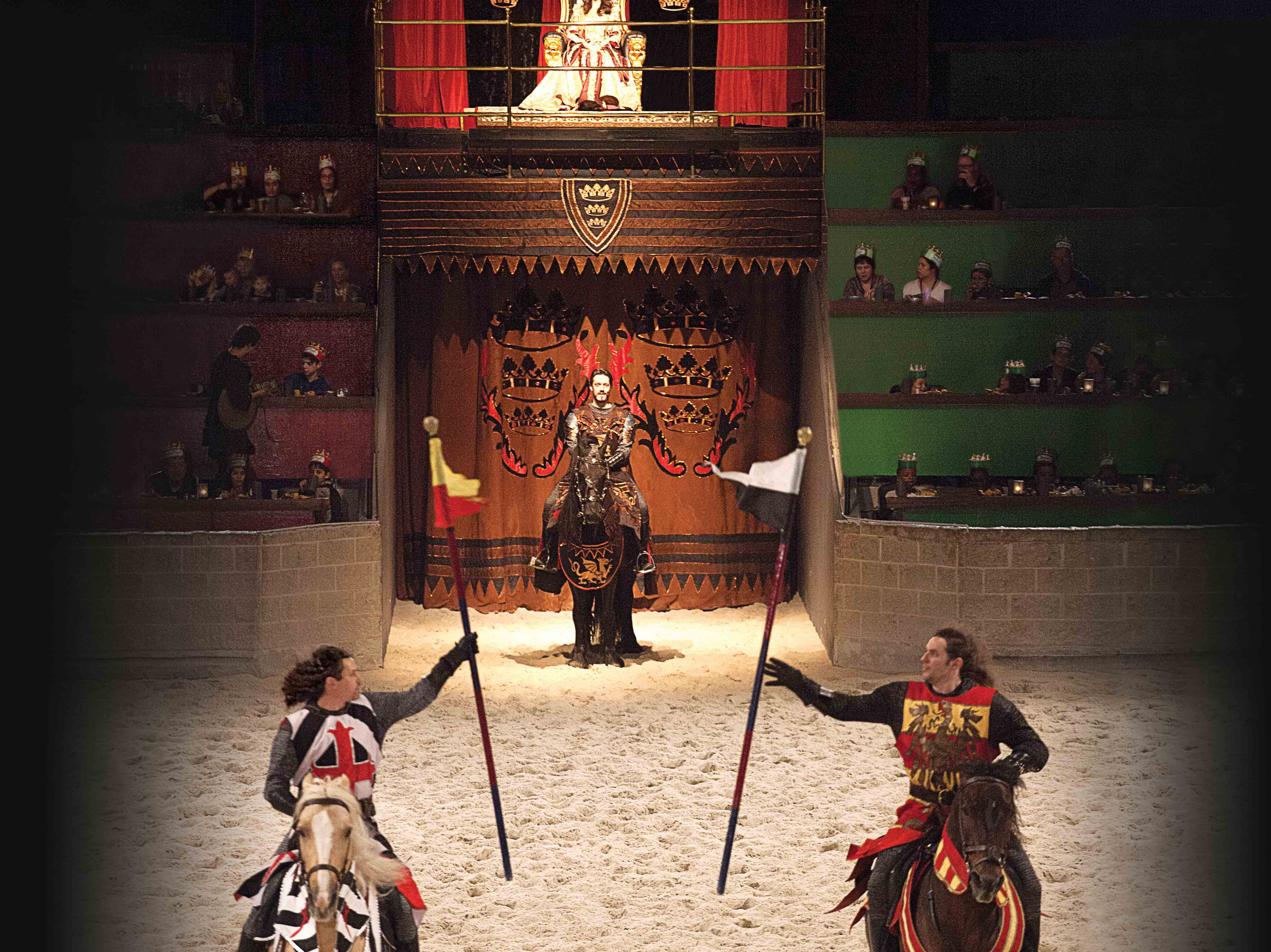 A performance at Medieval Times.
