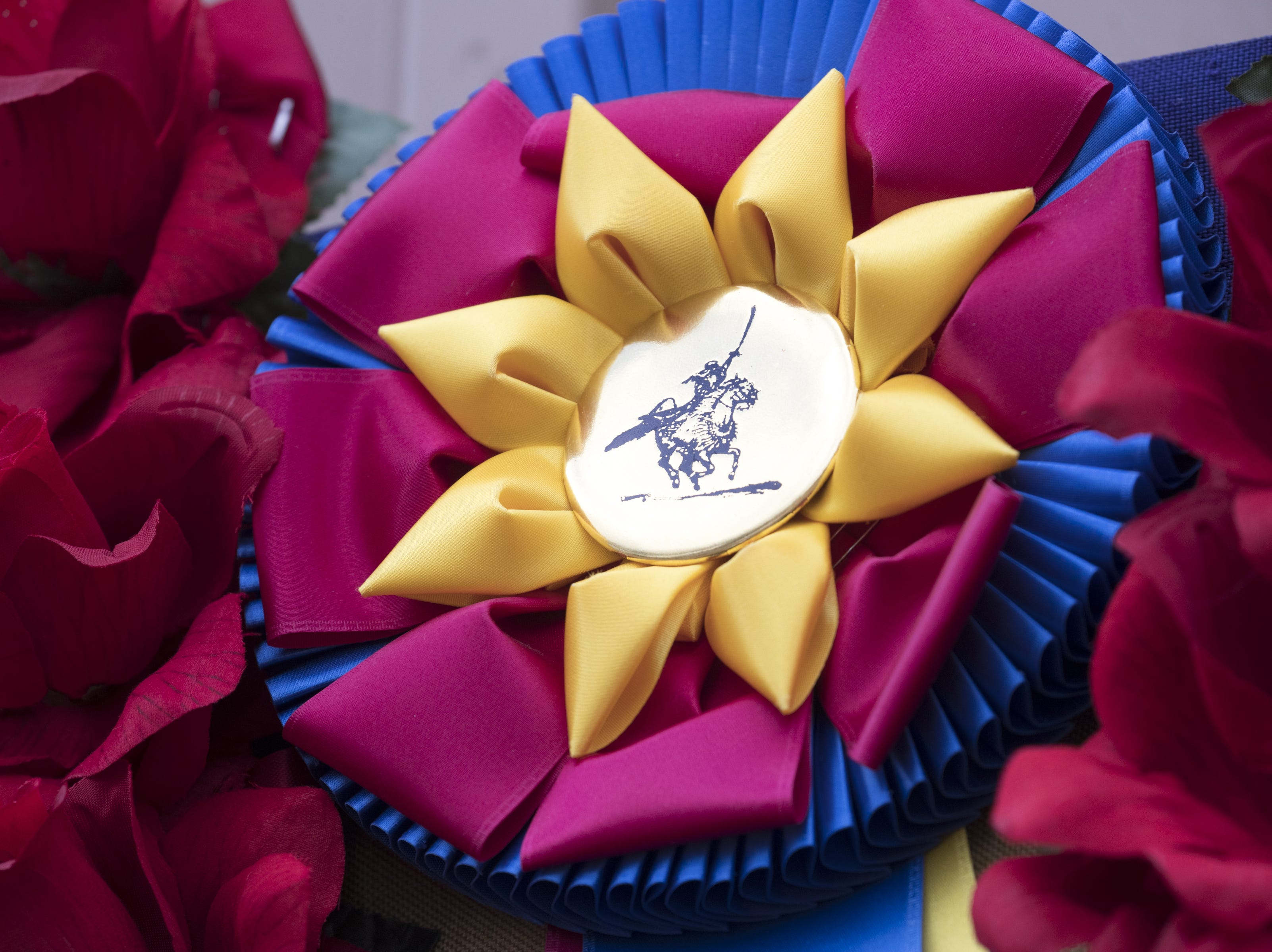 A ribbon on display at the Cedar Ridge Arabians Inc. stable on Feb. 18, 2019, during the 64th Annual Scottsdale Arabian Horse Show at West World.
