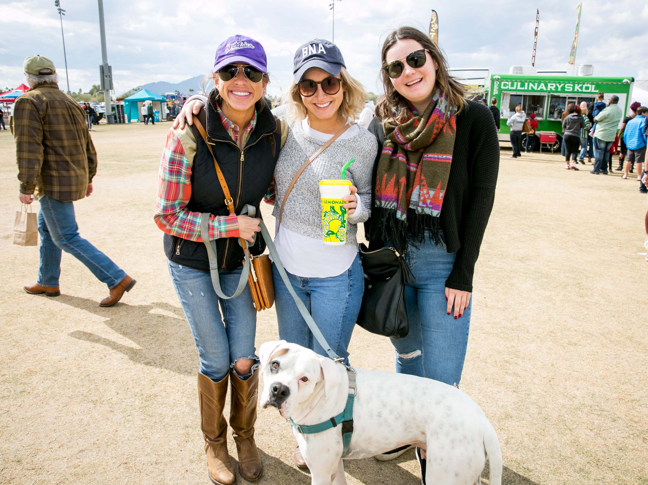 Vinny the dog also had a great time during the Street Eats Food Truck Festival at Salt River Fields near Scottsdale on Feb. 17, 2019.