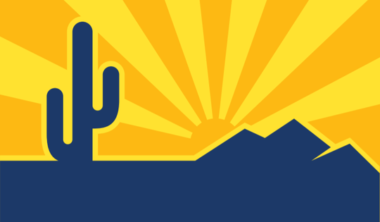 """One of two finalists for Scottsdale's new city flag, titled """"Mountains and Sky."""""""