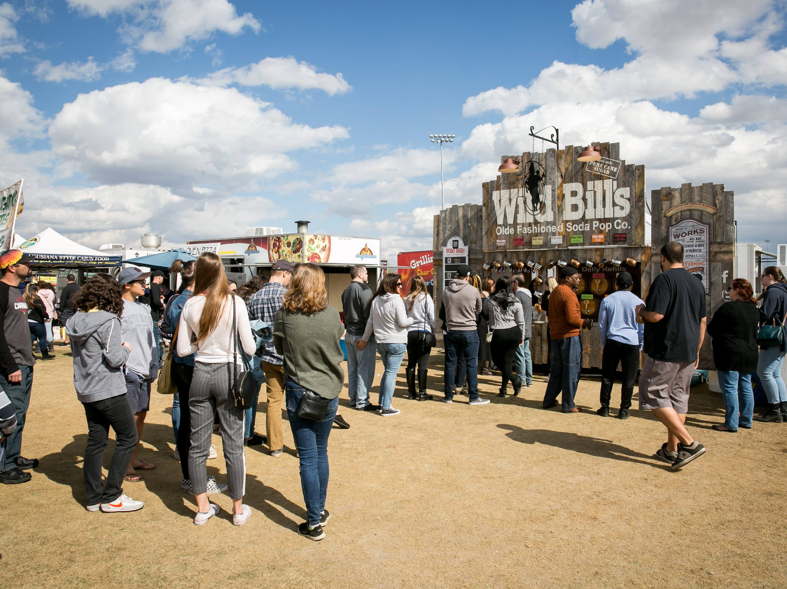 Wild Bill's sodas were a popular choice during the Street Eats Food Truck Festival at Salt River Fields near Scottsdale on Feb. 17, 2019.
