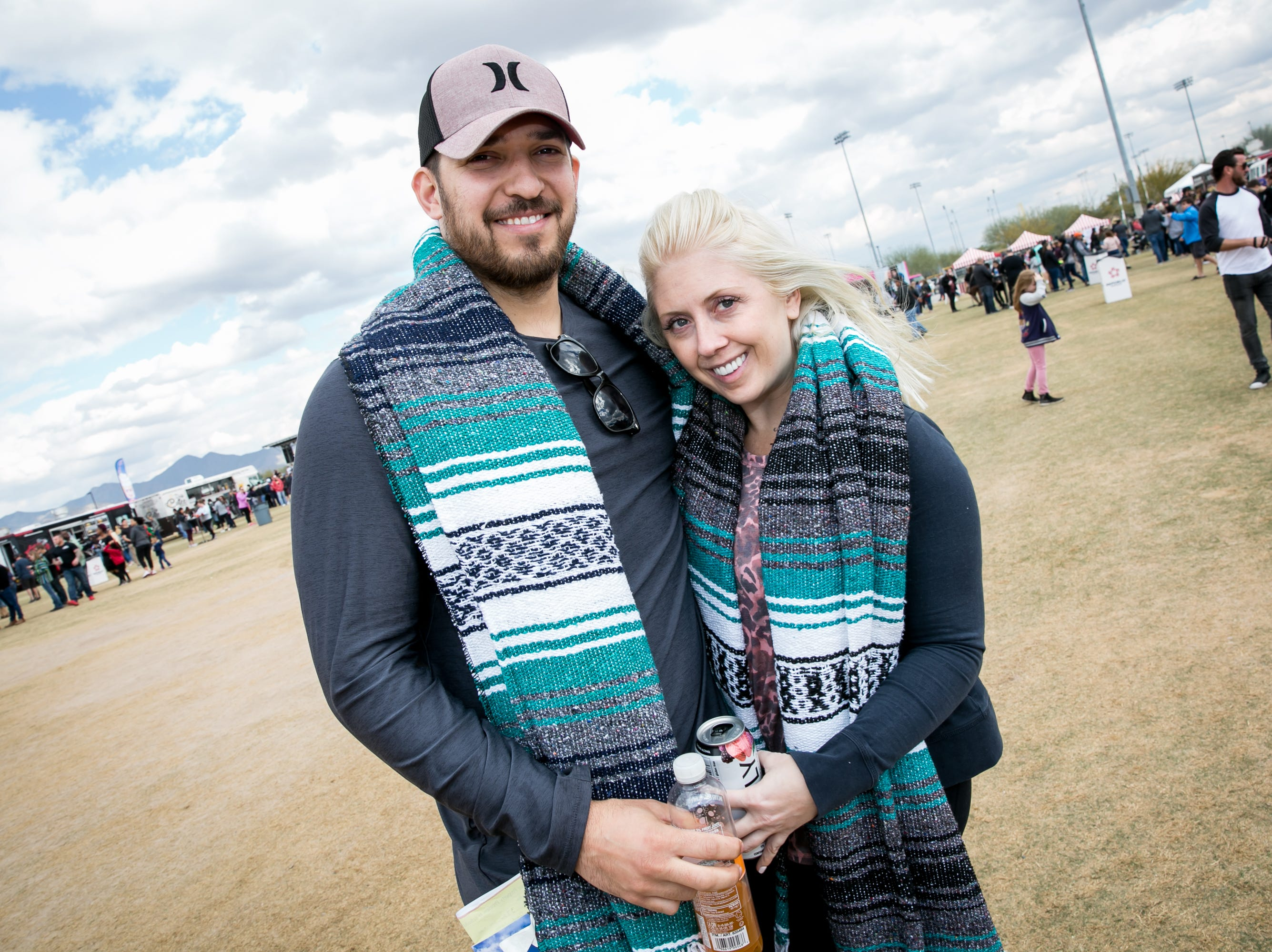Blankets were a great call during the Street Eats Food Truck Festival at Salt River Fields near Scottsdale on Feb. 17, 2019.