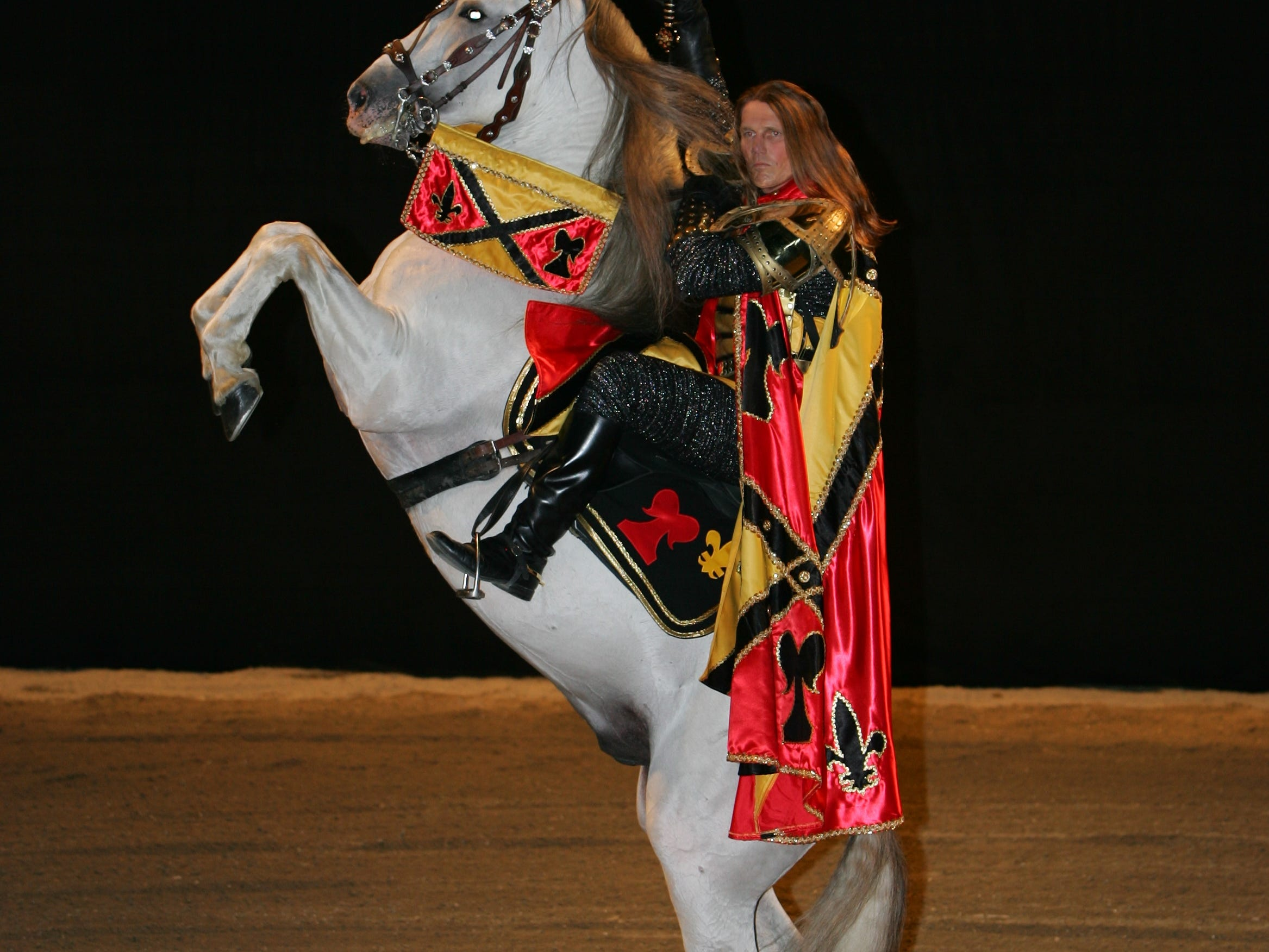 Tim Baker performing at Medieval Times.
