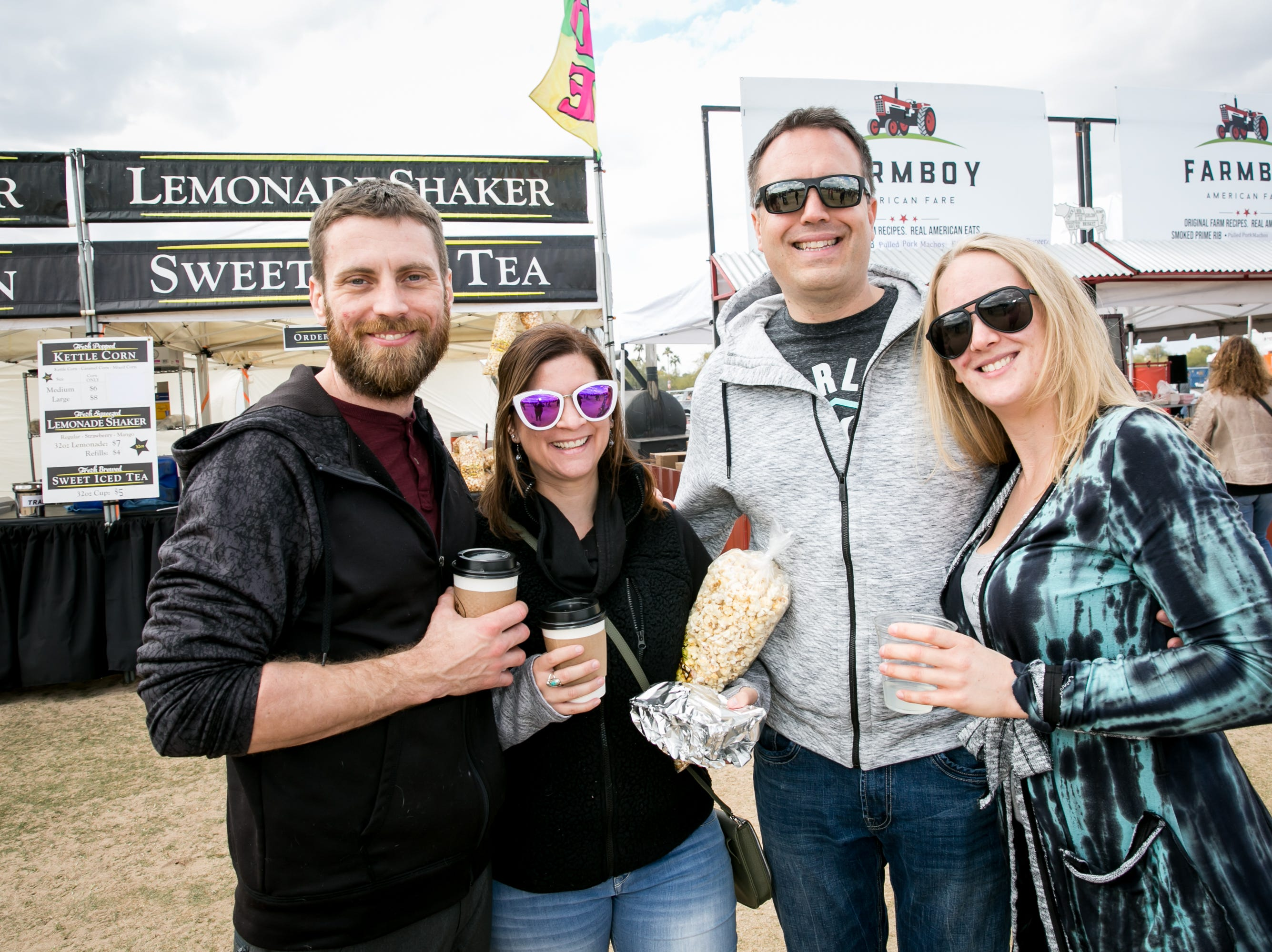 This group had a blast during the Street Eats Food Truck Festival at Salt River Fields near Scottsdale on Feb. 17, 2019.
