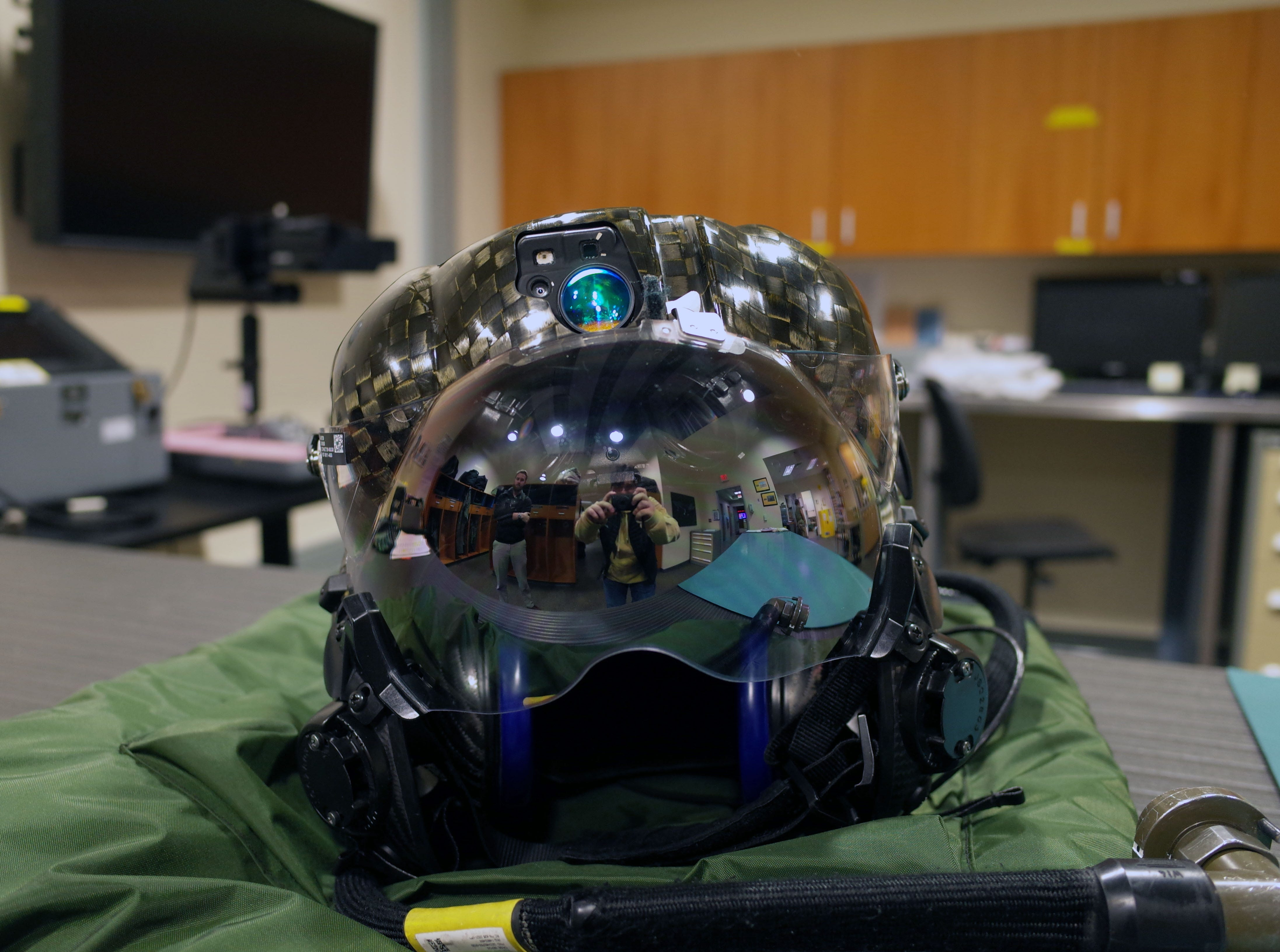The standard-issue F-35 helmet features heads-up display technology that provides flight data to pilots, according to the US Air Force.