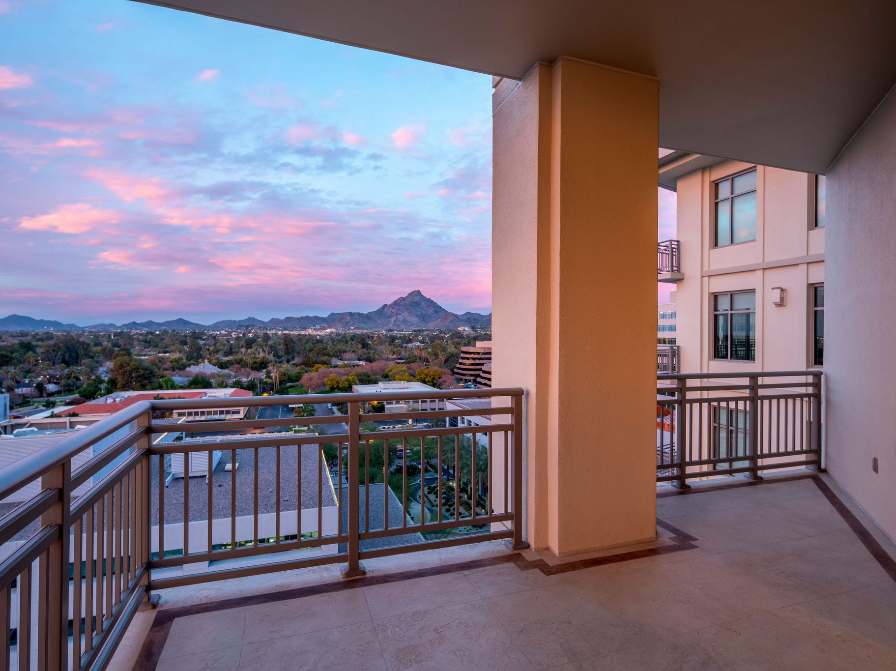 John and Cindy McCain moved into their 6,500-square-foot condo at 24th Street and Camelback Road in 2006. It has five bedrooms, 5 1/2 bathrooms, a dual-sided fireplace in the master suite, views from all directions and five parking spaces. The couple paid $4.6 million for the then-new condo, according to real estate records.