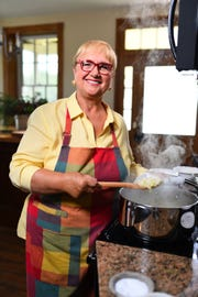 "Celebrity chef, restaurateur and cookbook author Lidia Bastianich is featured in the new film, ""A Fine Line,"" which will premiere at the Culinary Institute of America March 1."
