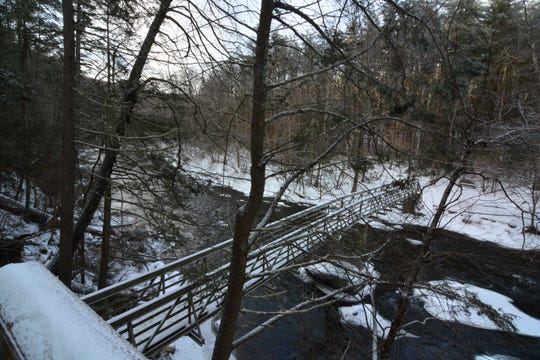 Take a moment to enjoy the view from the second bridge on the Bee Brook Loop hike.