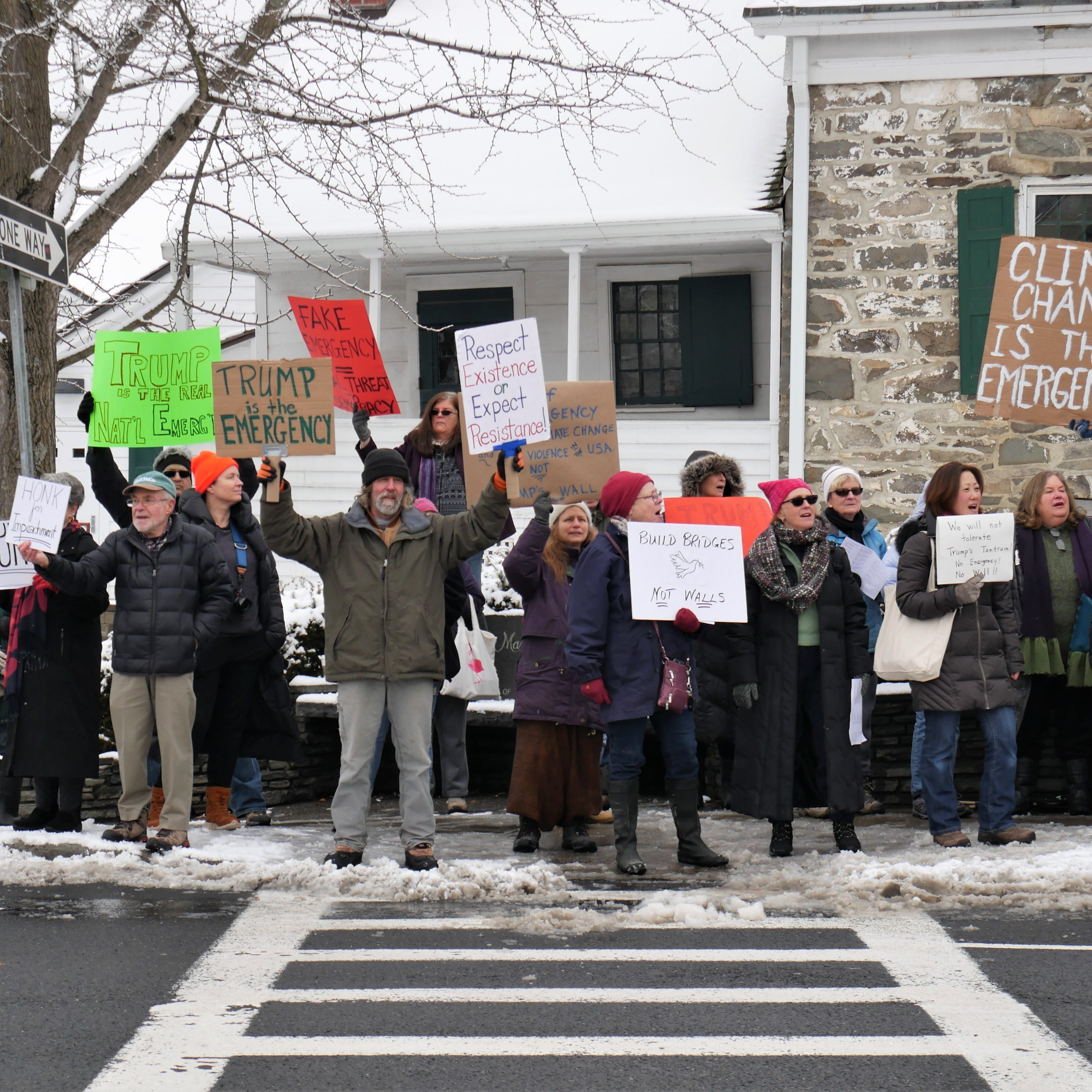 Trump's national emergency declaration protested, supported locally