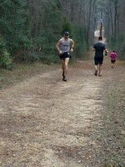 James McCowan, or New Paltz, runs en route to winning the Rocky Raccoon 100-kilometer trail ultra in Texas