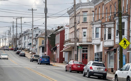 Looking south on Baltimore Street in Dillsburg Monday, February 18, 2019.