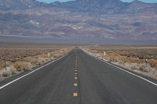 Nevada State Route 121 in Dixie Valley. The U.S. Navy wants to expand it's training area for the Fallon Naval Air Station in and around Dixie Valley.