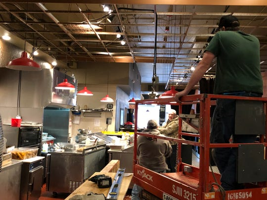 Construction proceeds at Liberty Food & Wine Exchange on Feb. 15, 2019. The restaurant's improvements are set to be complete in March 2019.