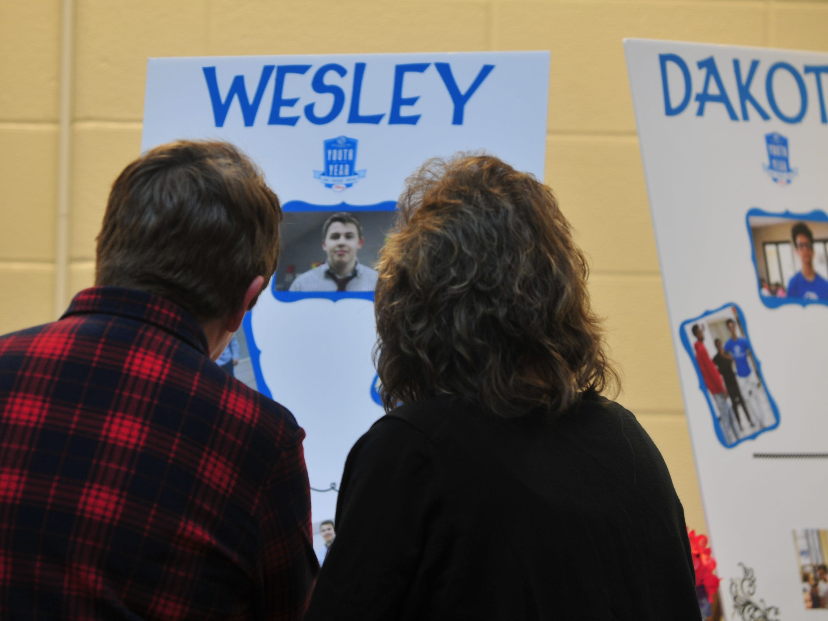 Posters for each Youth of the Year candidate were displayed Monday during the Boys and Girls Clubs of Wayne County Youth of the Year competition at the Jeffers Unit.