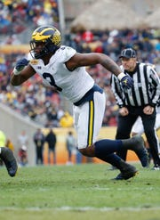 Michigan edge rusher Rashan Gary is projected as a top half of the first round pick.