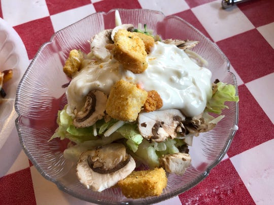 All you can eat salad at Market Street Pizza is part of the $7.99 lunch special.