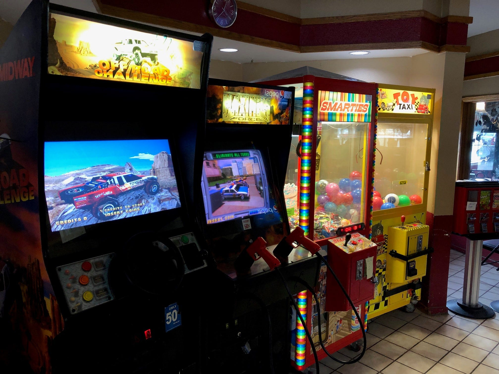 Arcade games for kids and adults alike at Market Street Pizza