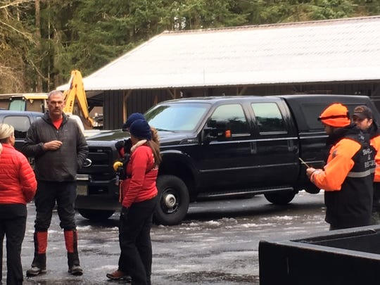 Search and rescue teams at Silver Falls State Park Monday, Feb. 18, 2019.