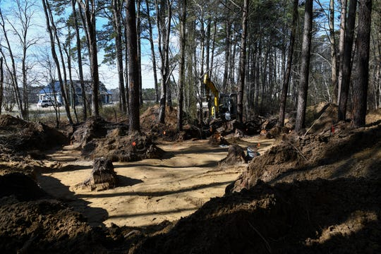 Archeologists uncovered what appears to be an unmarked grave site in unincorporated Frankford, DE over the days leading up to Monday, Feb. 18, 2019.