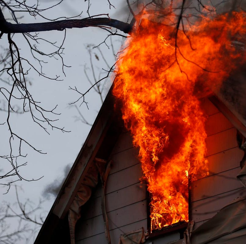 Crews responded to a house fire Monday on Division Street in Springfield.