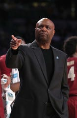 Feb 16, 2019; Atlanta, GA, USA; Florida State Seminoles head coach Leonard Hamilton points to a player on the bench during the second half against the Georgia Tech Yellow Jackets at McCamish Pavilion. Mandatory Credit: Jason Getz-USA TODAY Sports