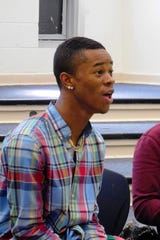 """Treveon Miller finds """"Lift Every Voice"""" to be a poignant moment in the production."""