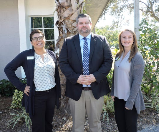 Yvette Acevedo, left, president/CEO of Big Brothers Big Sisters of Palm Beach & Martin Counties; Keith Fletcher, president/CEO of Boys & Girls Clubs of Martin Counties and Caitlin Hartley of Stuart/Martin County Chamber of Commerce.