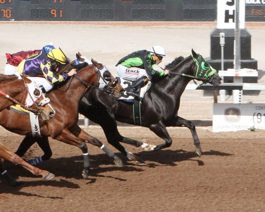 Jess Bein The Hero qualified for the West Texas Maturity next month at Sunland Park Racetrack & Casino.