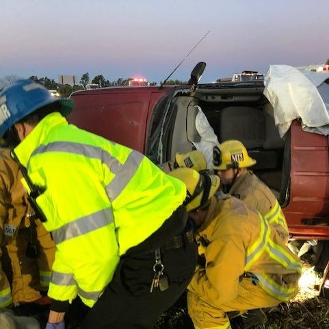 Injured motorist rescued after rollover crash on Highway 126