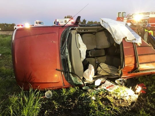 An injured motorist was rescued early Monday after their vehicle rolled over on Highway 126 in Ventura.