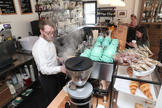 Coffee is made fresh at Dolly's on Garrison Landing along the Hudson River in Garrison Feb. 15,  2019.