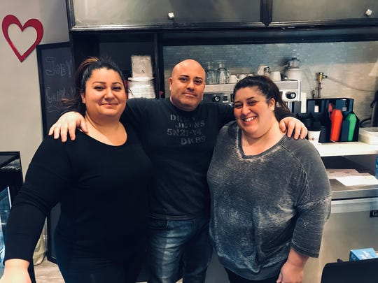Left to right: Franca Rossignuolo, Joey Rossignuolo and Maria Leone, the owners of Joey's Cannoli in New Rochelle. Photographed Feb. 16, 2019.
