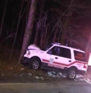 Ramapo, New York, police said Charles Lydon, a deputy fire chief in Montvale, New Jersey, drunkenly crashed in Chestnut Ridge on Feb. 16, 2019.