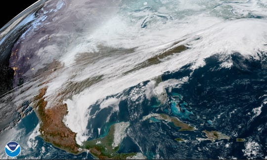 A storm system will move through Delaware on Wednesday and Thursday, leaving behind snow and rain.