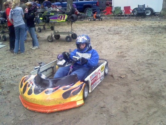 Jamie Schirmer raced go-carts since age 5, then joined his dad in racing much larger, faster vintage modified cars last summer.