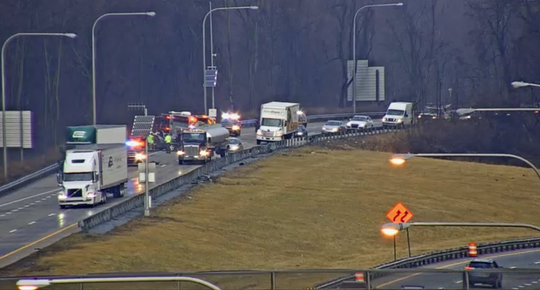I-495 southbound is closed at the state line due to an accident in the Naamans Rd. area.