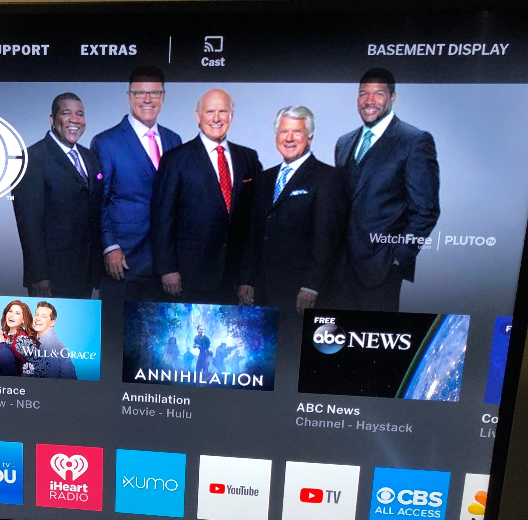 Watch Free channel is re-branded Pluto TV for Vizio smart TVs