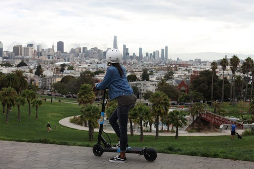 Electric scooters add a buzz to city sightseeing