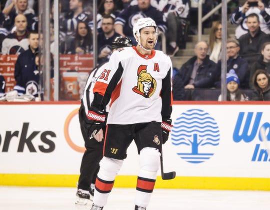 Ottawa Senators forward Mark Stone has 59 points in 58 games.