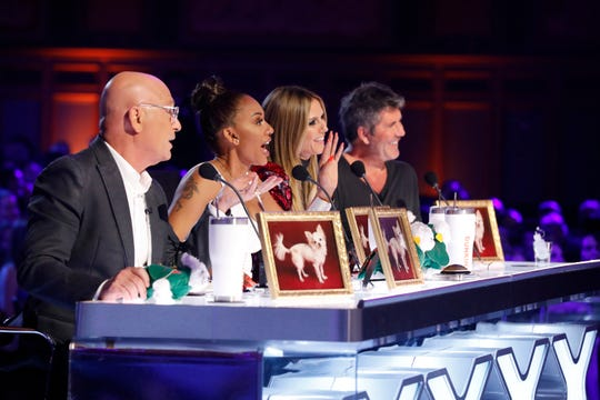 'America's Got Talent' judges Howie Mandel, left, Mel B, Heidi Klum and Simon Cowell will just be spectators for Monday's 'Champions' finale, as a panel of superfans had already decided the competition winner.